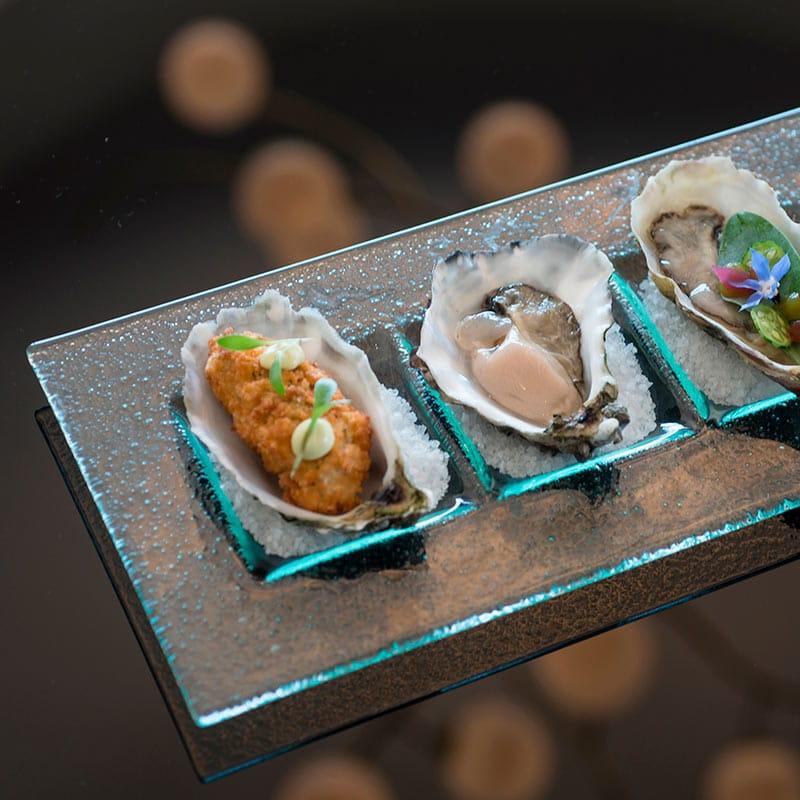 Amara Restaurant | Starter | Oysters 3 way